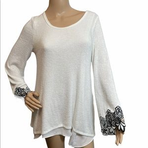Design Lab by Lord and Taylor Top, Size Medium